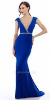 Nika Detailed Zig Zag Trim Evening Dress
