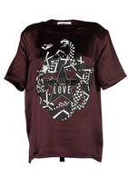 Givenchy Snake Print Satin T-shirt