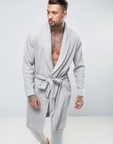 Asos Shawl Neck Dressing Gown In Waffle