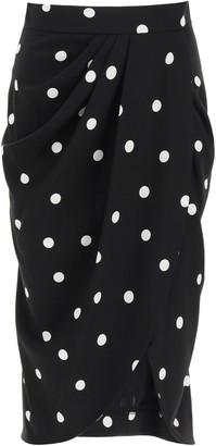 Dolce & Gabbana Polka Dot Midi Skirt