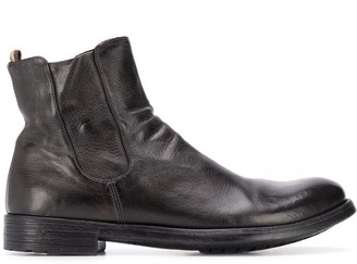 Officine Creative Slouch Leather Ankle Boots