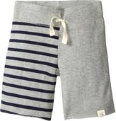 Burt's Bees Baby Striped Colorblock Board Shorts (Baby) - Grey-3-6 Months