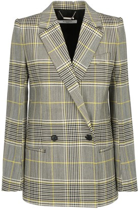 Givenchy Double-Breasted Tartan Pattern Blazer