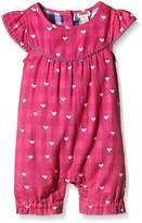 Hatley Baby Girls 0-24m Little Hearts Shortall Romper