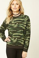Forever 21 FOREVER 21+ Camo Print Fleece Sweater