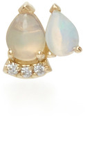 Paige Novick 18K Yellow Gold Diamond and Opal Stud