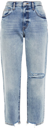 Current/Elliott The Original Ankle Distressed Boyfriend Jeans