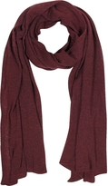 Mila Schon Solid Burgundy Wool Blend Stole