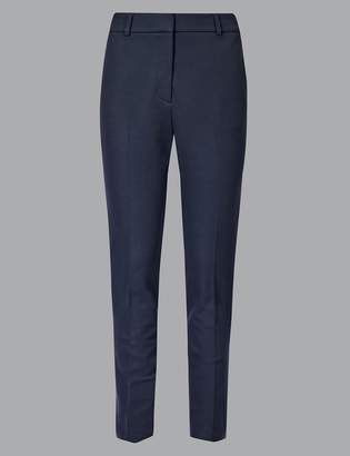 AutographMarks and Spencer Cotton Rich Slim Leg Ankle Grazer Trousers