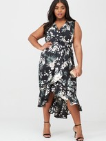 AX Paris Curve Frill Wrap Dress - Multi
