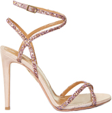 Aquazzura Leila glitter and suede sandals
