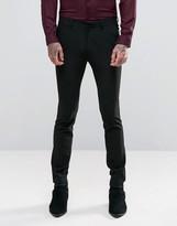 Asos Super Skinny Suit Pants In Black