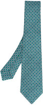 Kiton geometric print tie - men - Silk - One Size