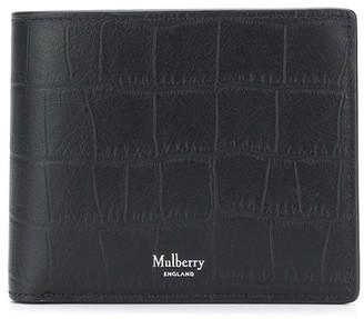 Mulberry Matte Croc-Effect Wallet