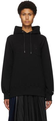 Sacai Black S Embroidery Hoodie