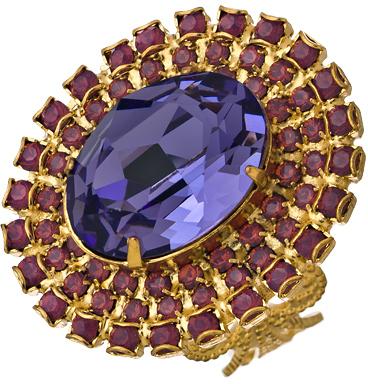 Liz Palacios Purple Crystal Fantasy Ring