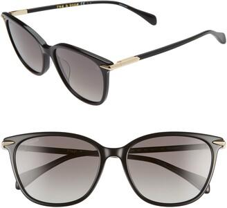 Rag & Bone 55mm Polarized Cat Eye Sunglasses