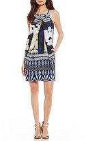Antonio Melani Nuri Printed Crepe Dress