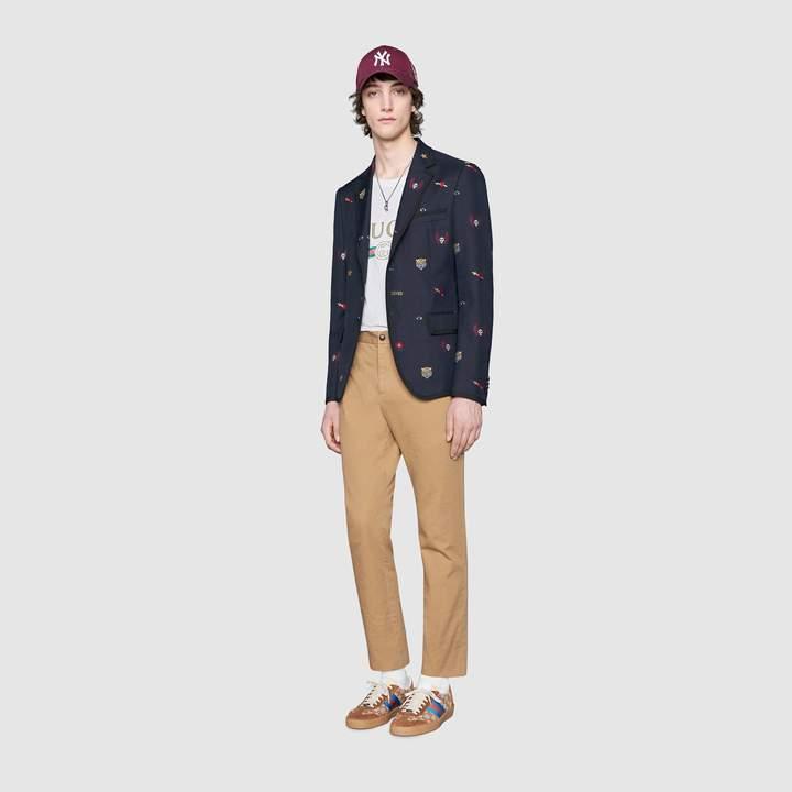 Gucci Cambridge jacket with symbols