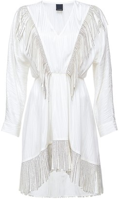 Pinko Stud-Embellished Fringe Dress