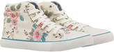 Cath Kidston Trailing Rose Quilted Hightop Plimsolls
