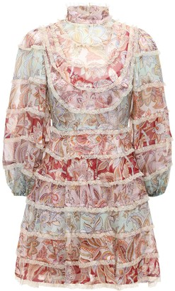 Zimmermann Ladybeetle Silk Chiffon Mini Dress