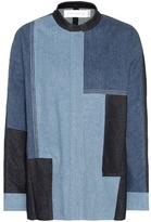 Victoria Victoria Beckham Shacket Patchwork Denim Jacket