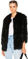 Yves Salomon Marmot Jacket in Black.