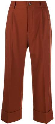 Berwich cropped palazzo trousers