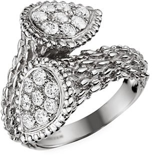 Boucheron Serpent Boheme Toi Et Moi 18K White Gold & Diamond Ring