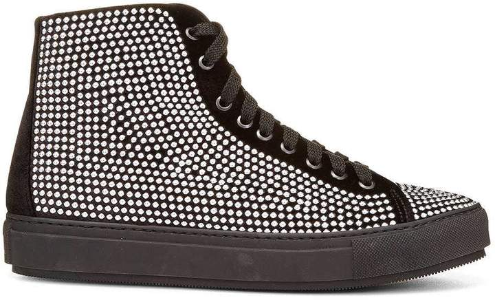 Donald J Pliner CONTESP, Embellished Velvet High-Top Sneaker