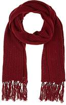 Barneys New York WOMEN'S BEADED WOOL-CASHMERE SCARF