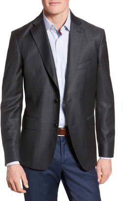 John W. Nordstrom Classic Fit Plaid Wool Sport Coat
