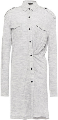Rag & Bone Melange Wool-blend Jersey Mini Dress