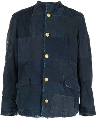 Greg Lauren Denim Shirt Jacket