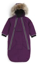 Canada Goose Infant Girl's 'Bunny' Hooded Bunting With Genuine Coyote Fur Trim
