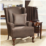 Sure Fit Stretch Leather Wing Chair Slipcover