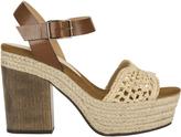 Castaner Mia Platform Sandals Beige 38