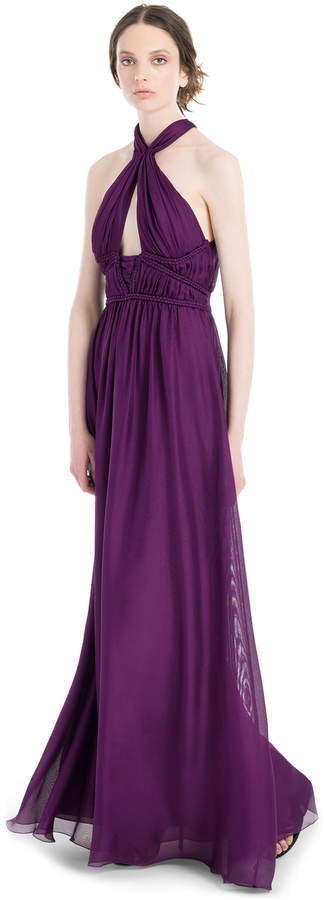 Max Studio silk mesh chiffon long dress