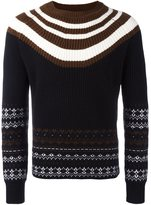 Neil Barrett fair isle striped jumper - men - Wool - M