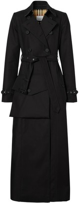 Burberry Pocket Detail Cotton Gabardine Trench Coat