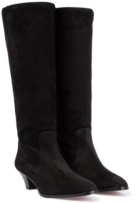 Aquazzura Boogie 45 suede knee-high boots