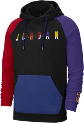 Jordan Sport DNA HBR Fleece Hoodie Sweatshirt - Black / Red Court Purple Rush Blue