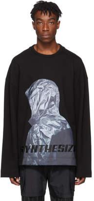 Juun.J Black Synthesize Sweatshirt