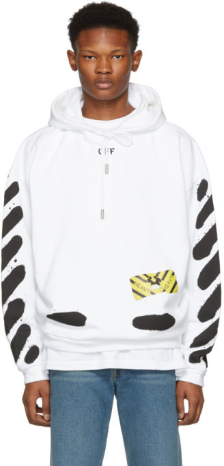 Off-White Off White White Spray Paint Hoodie