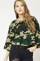 Forever 21 Boxy Camo Print Sweatshirt