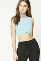 Forever 21 FOREVER 21+ Twist-Hem Crop Tank Top