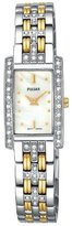 Pulsar Women's PEG881 Crystal Accented Dress Two-Tone Stainless Steel Watch