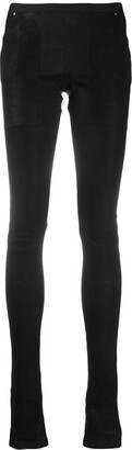 Rick Owens Coated Mid-Rise Leggings
