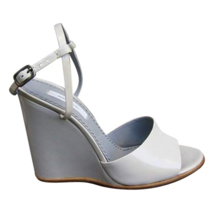 Marc Jacobs Grey Leather Sandals